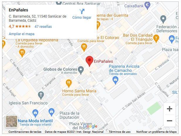 mapa enpanales